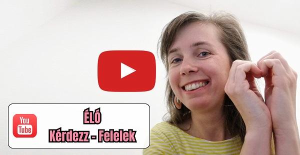 Élő közvevítés kérdezz-felelek Ébredő Szexualitás Blog YouTube